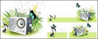 Borboleta de alto-falante de música Leão verde primavera Vector Material