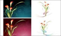เวกเตอร์แฟนตาซีดอกไม้วัสดุ-15