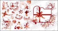 Desenhos vetoriais e material de padrões decorativos