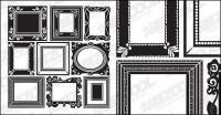 Accueille le matériau de vecteur de dentelle frame