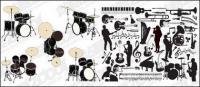 Vector instrumentos y material de las cifras en imágenes