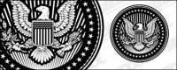 Material de vector circular de estilo pictórico Europeo y American Eagle