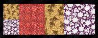 Los patrones de fondo en mosaico hermoso vector de material