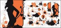Halloween Thema Vektor Formmaterial