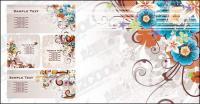 Material de vectores de patrón de color de moda divertida