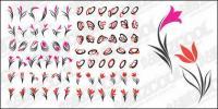 Material de gráficos de vetor de flores simples