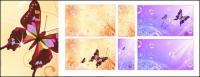 나비 꿈 꽃 거품 벡터 배경 자료