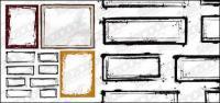 Tinta gaya perbatasan vektor bahan