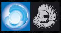 Mejillones perlas materiales de vectores