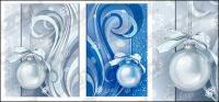 Patrones de decoración de Navidad de vectores de material