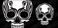 Material de vectores de cráneos totem