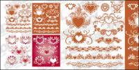 Acomoda um padrão em forma de coração com o vetor de elemento material de rendas