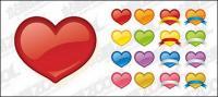 Сердце образный значок вектор web2.0 стиль материал