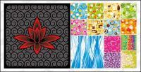 14, moda patrón de mosaico fondo material de vectores