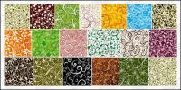19, sobre el material de fondo de mosaico patrón vector