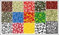 15 の実践的なパターンの背景素材ベクトル