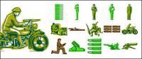 Matériau de vecteur pour le thème militaires étrangers