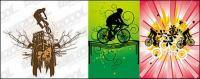 3 จักรยานเวกเตอร์วัสดุ