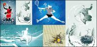 5, il materiale della campagna illustrazioni vettoriali