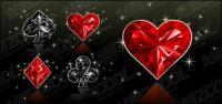 Texture de diamant de matériel de Poker vector graphics
