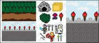 matériel de vecteur GoMedia pixel art