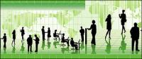 ธุรกิจคนในรูปภาพ vector ภาพประกอบวัสดุ