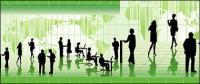 Geschäftsleute in Bildern Vektor Illustrationen material