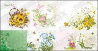 7、材料の様々 な花をベクトルします。
