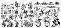 Número de material de vectores de patrones en blanco y negro para la moda