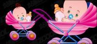 Bebé lindo vector material-3