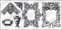 大陸の豪華なパターン要素材料の彫刻