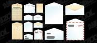 Бумажные пакеты, конверты, векторный материал