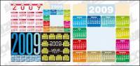 4 des Kalenderjahres 2009 Vektor-material