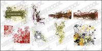 8, material de vectores estilo sistematicidad patrón