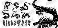 Вмещает материала Дракон Тотем вектор