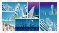9, vetor de material de construção de cidade