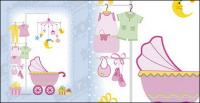 赤ちゃん用品のベクター素材