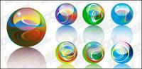 Leuchtet Crystal-Ball-Vektor-material