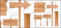 Wood firma material de vectores