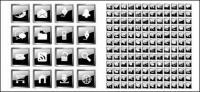 Сотни значок материала векторной черного хрусталя