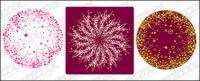patrón circular compuesto por pictórica