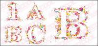 Flores coloridas composto por letras