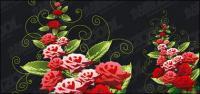 Rosados patrones decorativos de vectores de material