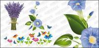 절묘 한 꽃 벡터 자료