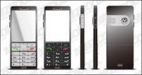 Teléfono de material de vectores
