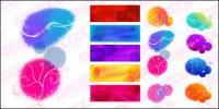 Цвет чернил шаблон векторные фантазии материал