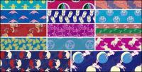 Graphiques vectoriels classique en mosaïque background material-3