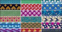 Gráficos vectoriales clásica mosaico fondo material-5