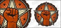 ベクトル円形ロゴ北斗星素材