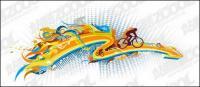 La tendencia de ciclismo material de vector de elemento
